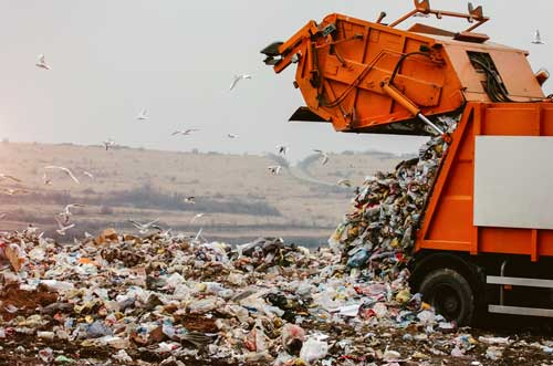 Food waste in landfills generates green house gases
